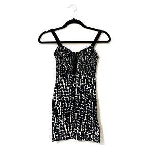 Abstract Animal Print Bodycon Dress